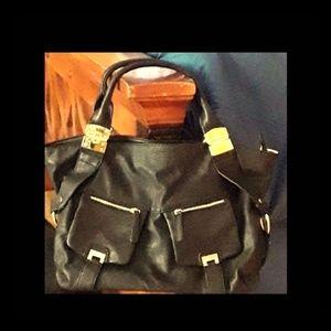 JUST FAB black handbag